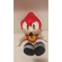 Bonecos Pelúcia Sonic Vermelho Sega 40 Cm