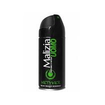 Desodorante Malizia Uomo Vetyver Importado 150 Ml