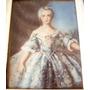 Antiga Pintura Miniatura S/ Celuloide Figura De Dama 11x9cm
