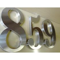 Números E Letras Em Aço Inox 20cm (escovado Ou Espelhado)