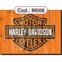 Quadros Harley-davidson Em Madeira Estilo Rústico