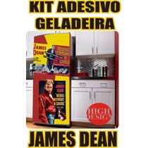Kit Adesivo Envelopamento Skin Geladeira James Dean Vintage