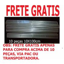 Ralo Linear, 10x100cm, Grelha, 10 Peças O Frete É Gratis!