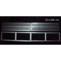 Ralo Linear Tipo Grelha Alumínio Fundido 15x100 Loja Fabrica