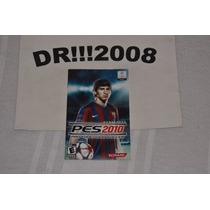 Manual Pes 2010 Original P/ Playstation 2!!!