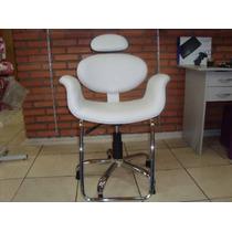 Cadeira Cabeleireiro Salão De Beleza Prima Std Reclinavel