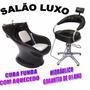 Cadeira + Lavatório P/ Salão De Cabelereiro Beleza - Lindos!