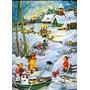 1422 Cartão Advento De Natal, Alemão. Possui 24 Janelinhas,