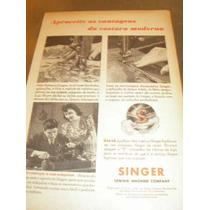 ( L - 290 ) Propaganda Antiga Máquina De Costura Singer