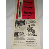 Propaganda Antiga Pente Flamengo & Cadeiras Gerdau - 1963