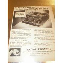 ( L - 290/ P ) Propaganda Antiga Máquina Escrever Royal