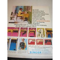 ( L - 290 / G ) Propaganda Antiga Máquina Costura Singer