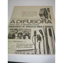 ( L-290 ) Propaganda Antiga Emissora Rádio Difusora Brasilia