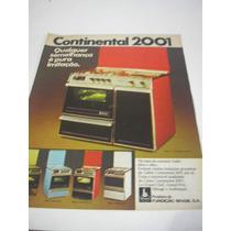 ( L - 290 ) Propaganda Antiga Fogão Continental 2001