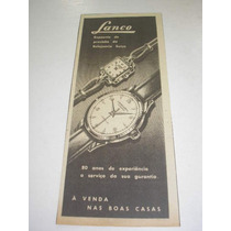 ( L - 290/ G ) Tira De Propaganda Antiga Relógio Lanco