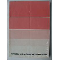 Manual Antigo Freezer Vertical Consul
