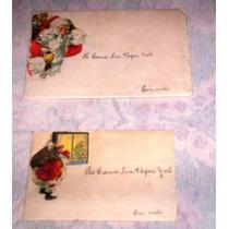 Duas Raras Cartinhas Para Papai Noel Anos 50