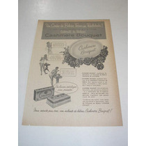 ( L - 290/ P ) Propaganda Antiga Sabonete Cashmere Bouquet