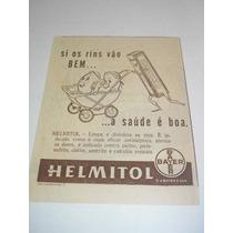 ( L 290/ G ) Propaganda Antiga Bayer Remédio Helmitol