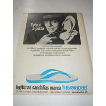 ( L - 290/ G ) Propaganda Antiga Sandálias Havaianas