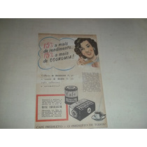 Propaganda Antiga Café Predileto - Anos 50 - Frete Grátis