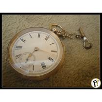 Antigo Relógio Bolso Waltham 1890 Prata C/ Chave Excelente