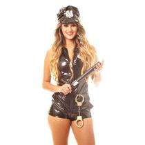 Fantasia Feminina Kit Policial Macacão Sexy - Frete Barato!