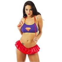 Sexshop - Kit Fantasia Sexy Super Girl + Produtos Sensuais
