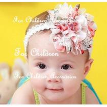 Faixa Bebe Tiara Infantil Flor / Frete Barato!