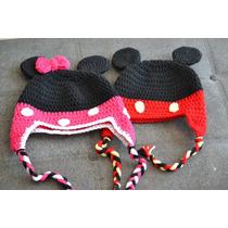 Touca De Croche P/ Bebe Mickey E Minnie - Valor Unitario
