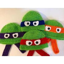 Touca De Croche Infantil Tartarugas Ninjas - Raphael