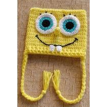 Touca/gorro Em Croche Bob Esponja Todos Os Tamanhos