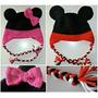 Touca Em Crochê Infantil Mickey E Minnie - Valor Unitário