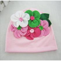 Gorro Touca Bebê Lili - Flores Coloridas