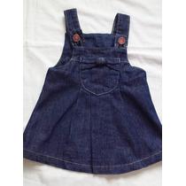 Jardineira Jeans Bebê Menina