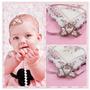 Faixa Cabelo Newborn Foto Bebe Menina Coroa Princesa Linda!