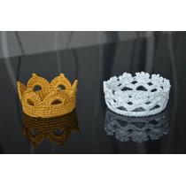 Coroa Em Crochet ( Acessórios Para Fotos Newborn)promoção!