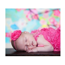 Tiara Faixa Cabelo Flor Foto Newborn Bebê Menina Acessórios