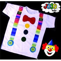 Jojo Baby - Camisa Palhaço Palhacinho Bebê Infantil