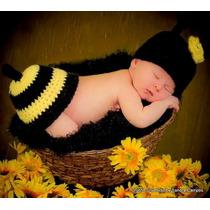 Fantasia Em Croche Newborn Abelinha/joaninha