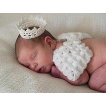 Fantasia De Anjo Em Crochê Para Recém Nascido Newborn