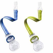 Prendedor De Chupeta Avent Kit Com 2 Azul/ Verde Importado