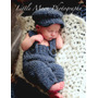 Conjunto Crochê Bebê Marinheiro Azul Newborn - Art Crochê