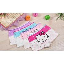 Kit 4 Calcinhas Boxer Bebê Infantil Hello Kitty