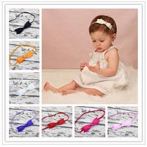 Faixa Laço Lacinho Tiara Cabelo Bebe Newborn Foto