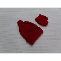 Gorro E Luva Tricot Inverno Enxoval Bebê Meninos E Meninas