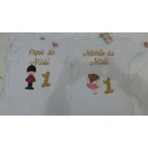 Camiseta Personalizada Mãe E Pai Bailarina E Soldado Chumbo