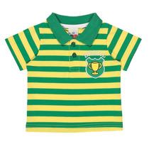 Camiseta Pã³lo Masculino Listras Verde E Amarelo Tip Top