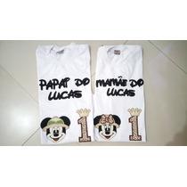Camiseta Mãe E Pai Mickey Safari