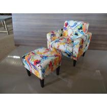 Poltrona Cadeira Puff Decora Casa Apto Clinica Recepção Arte